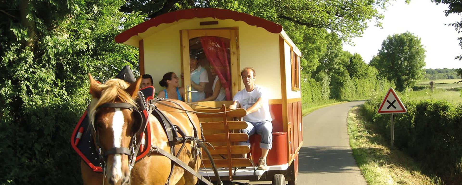 Une balade en roulotte ou en calèche pendant les vacances ?