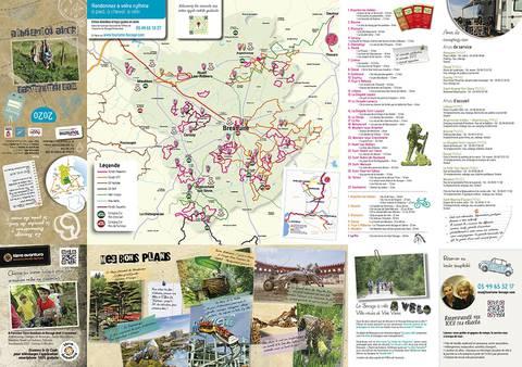 Carte des circuits de randonnée en Bocage Bressuirais à proximité du Puy du Fou