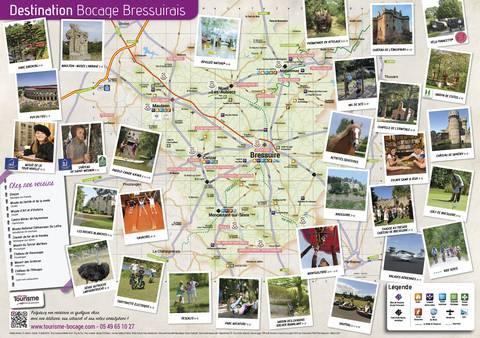 Carte Touristique en Bocage Bressuirais proche du Puy du Fou