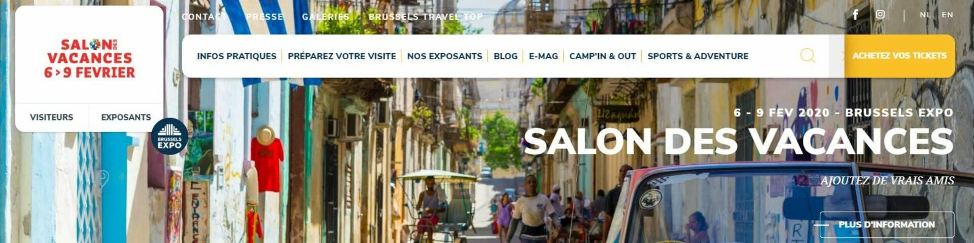 Salon des vacances de Bruxelles du 6 au 9 février 2020