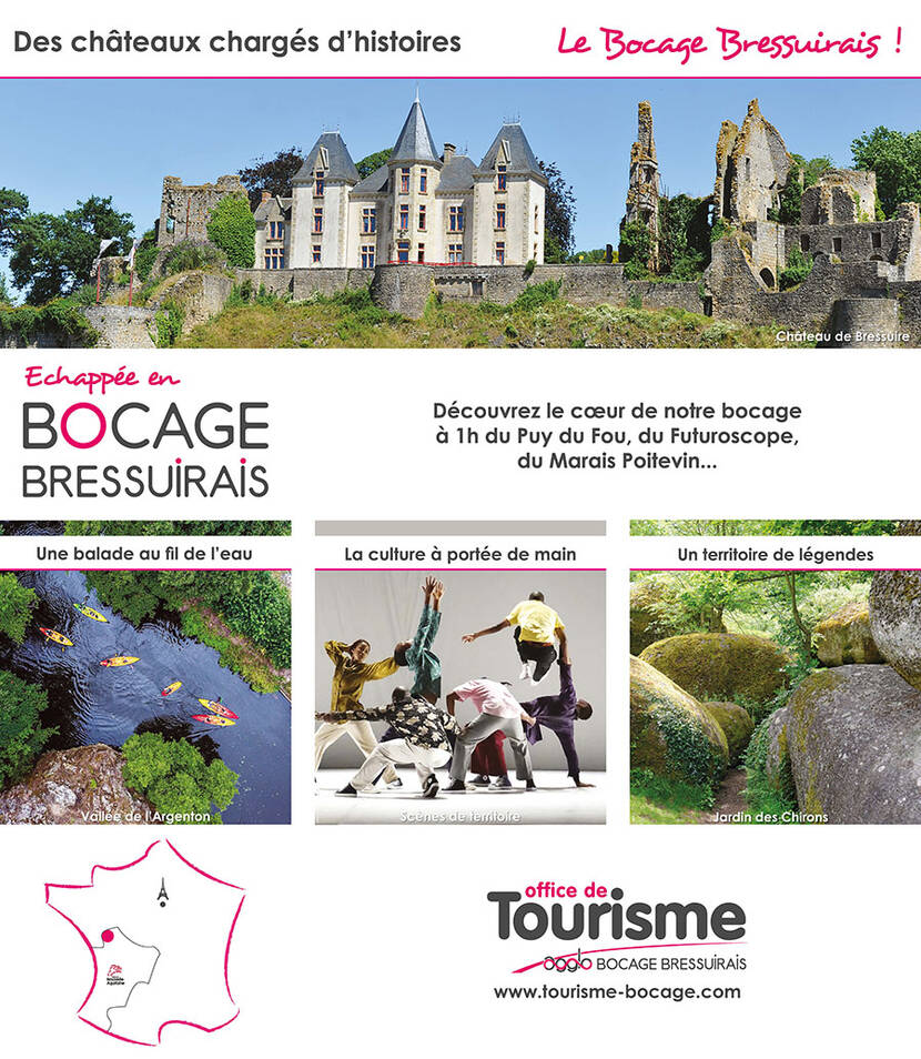Le Bocage Bressuirais : destination idéale entre Loire et Océan, aux portes du Puy du Fou