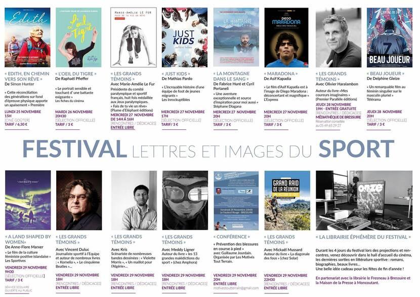 """Programme Festival """"Lettres et Images du Sport"""" à Bressuire"""