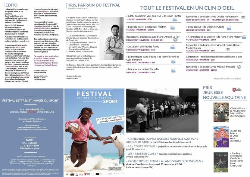 """Festival """"Lettres et Images du Sport"""" à Bressuire en un clin d'oeil"""