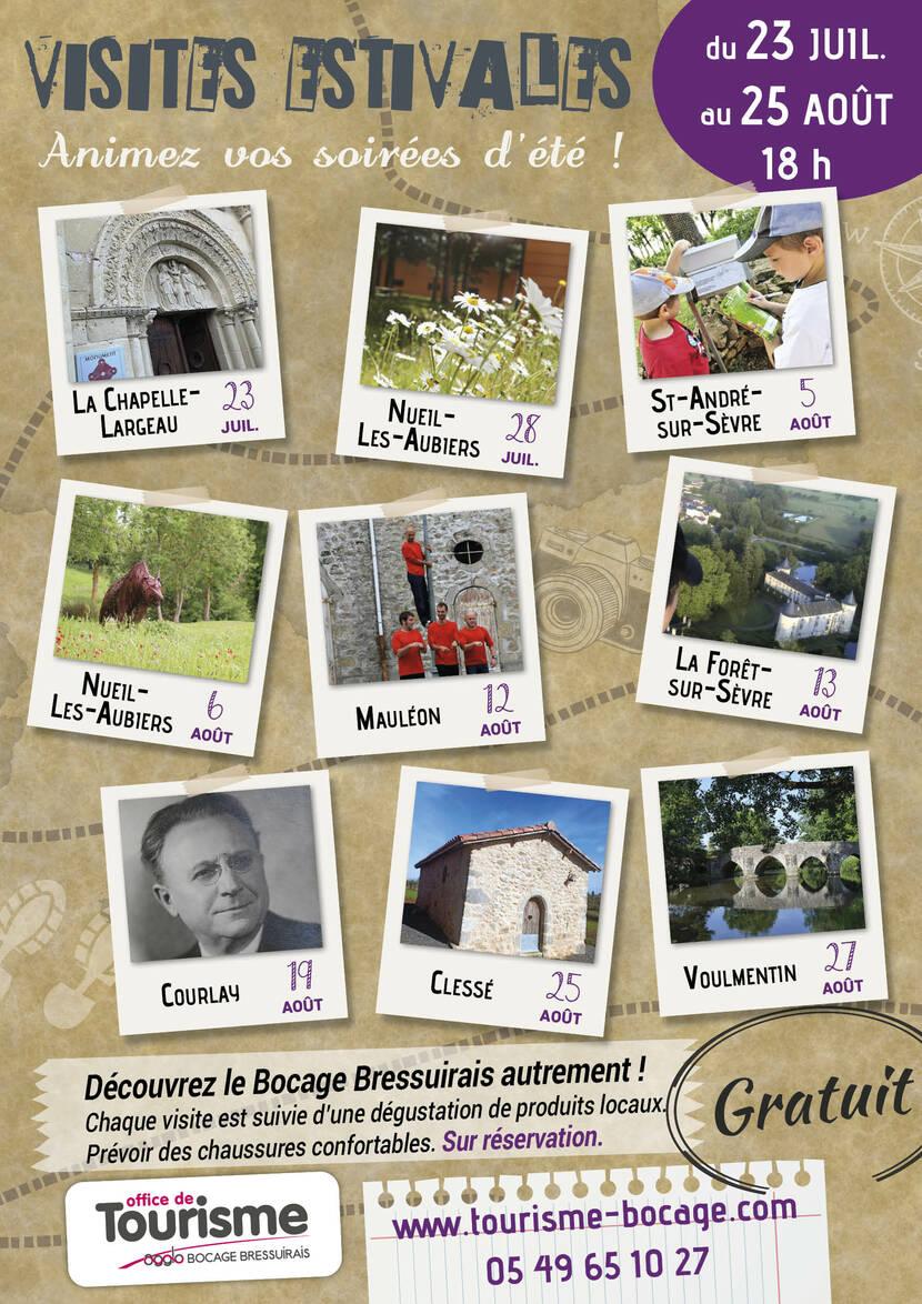 Visites estivales en Bocage Bressuirais