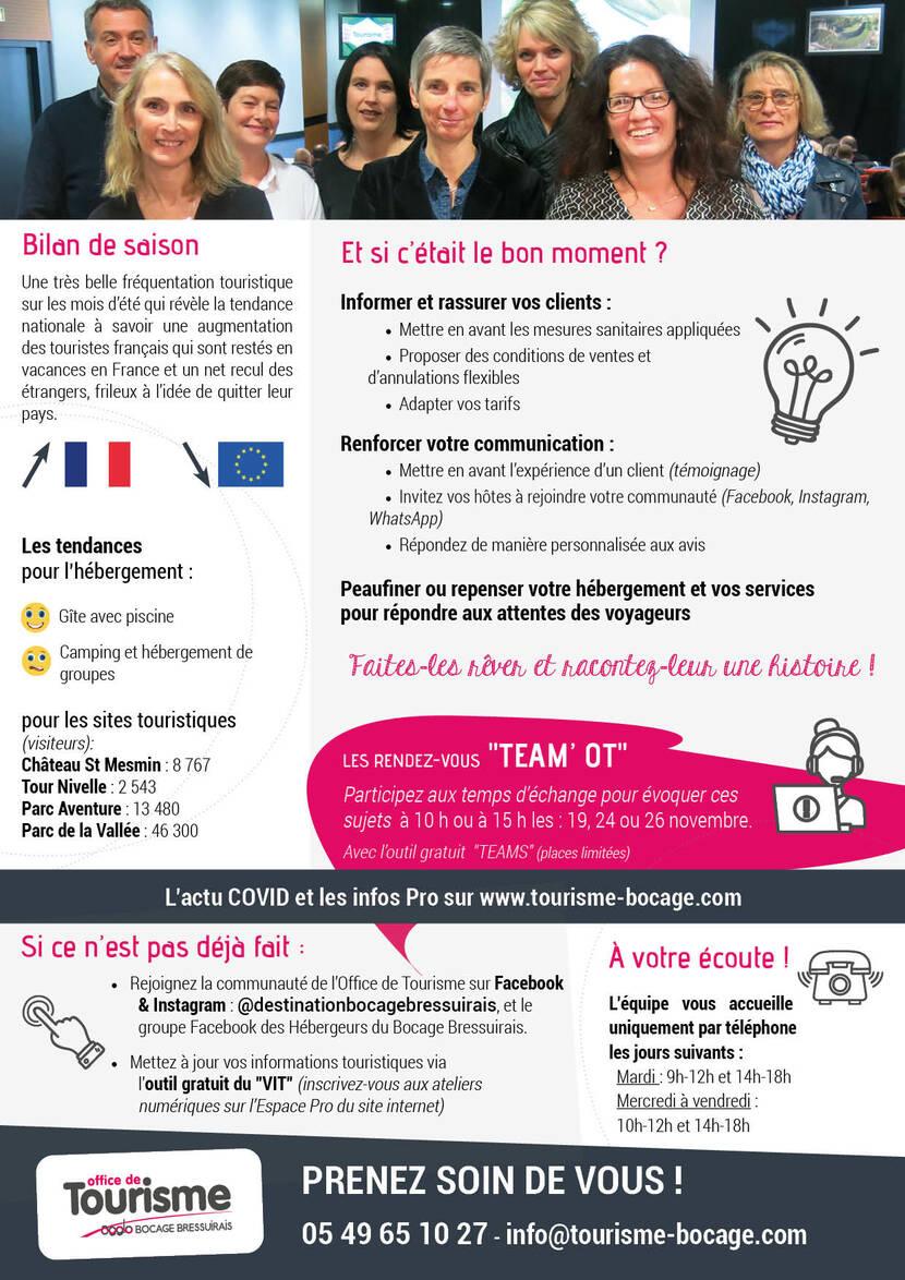 Les nouvelles de l'Office de Tourisme du Bocage Bressuirais